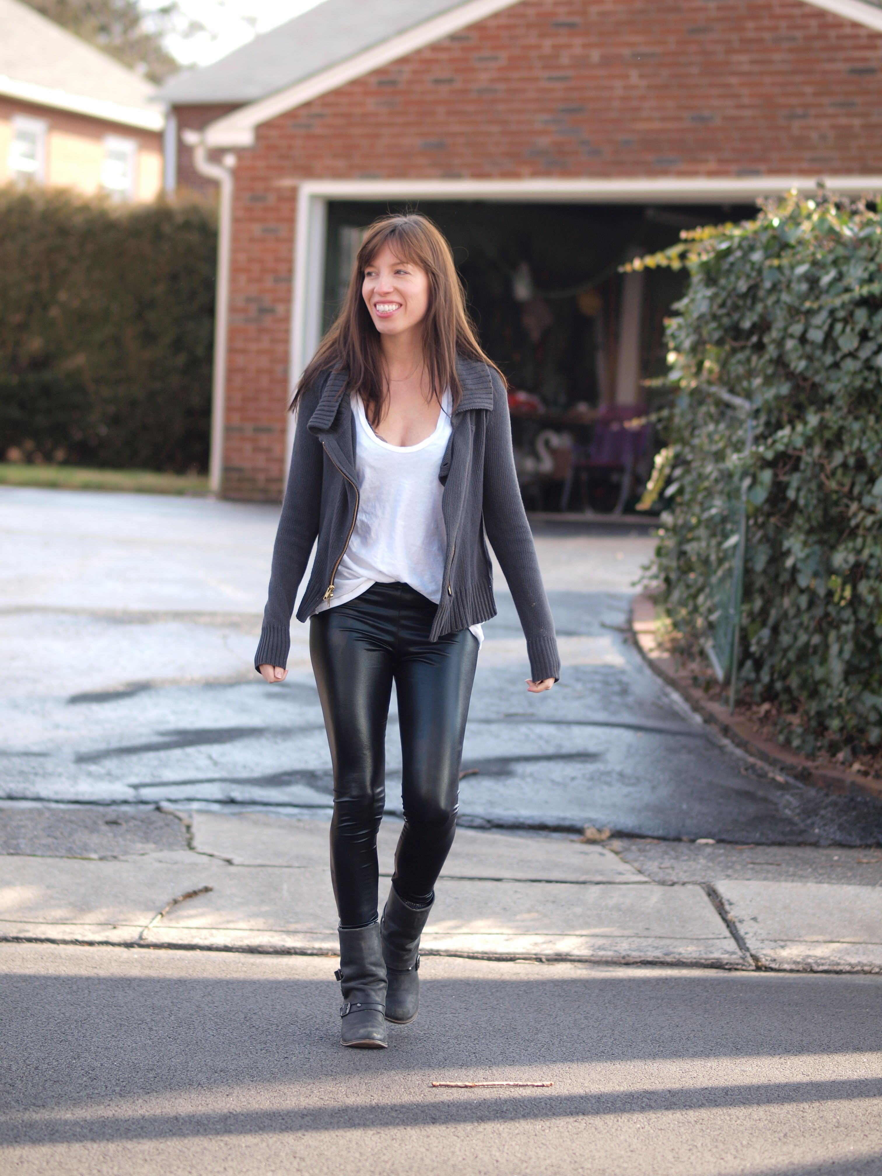 No She Didn't!! Leather Pants (...aaaand an alternative ...