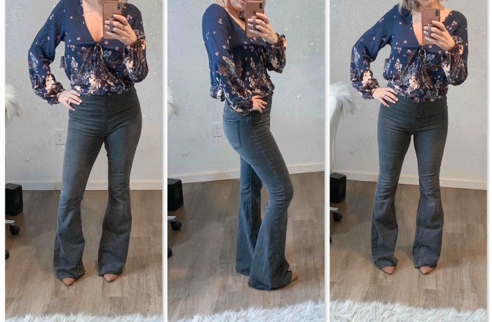 1d88d49ffec High-Rise Flare Jeans (Dressing Room Selfies) - The Mom Edit